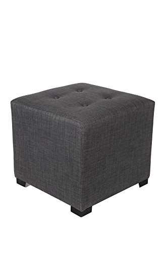 MJL Furniture Designs Merton Collection, Fabric Upholstered Modern Cube Foot Rest Ottoman with 4 Button Tufting, Gigi Series, Salmon by MJL Furniture Designs