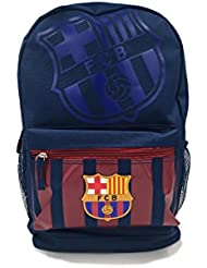 Icon Sports Official Licensed Backpack, FC Barcelona, Team Striped Navy