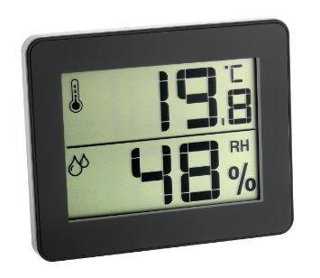 inkl Batterie schwarz 30502701 TFA Digitales Thermometer THERMO Hygrometer