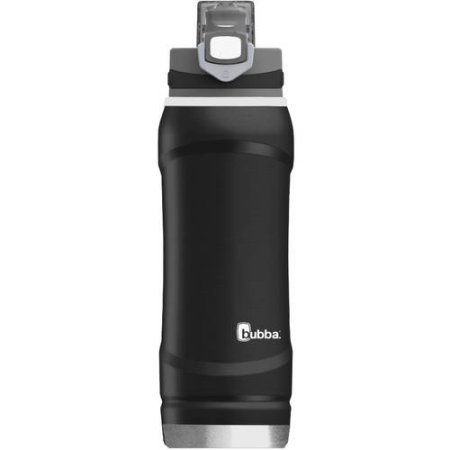 Bubba Leak-Proof 24-Ounce Double-Wall Vacuum Insulated Stainless Steel Flo Water Bottle - Black