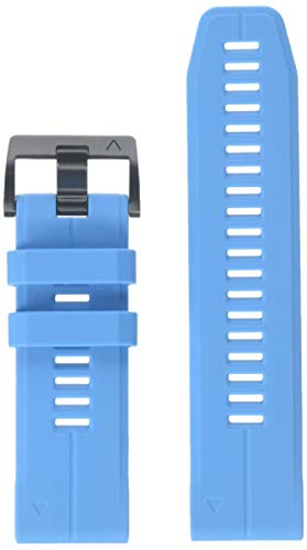 Garmin 010-12741-02 Quickfit 26 Watch Band -Cyan Blue Silicone Accessory Band for Fenix 5X Plus/Fenix 5X