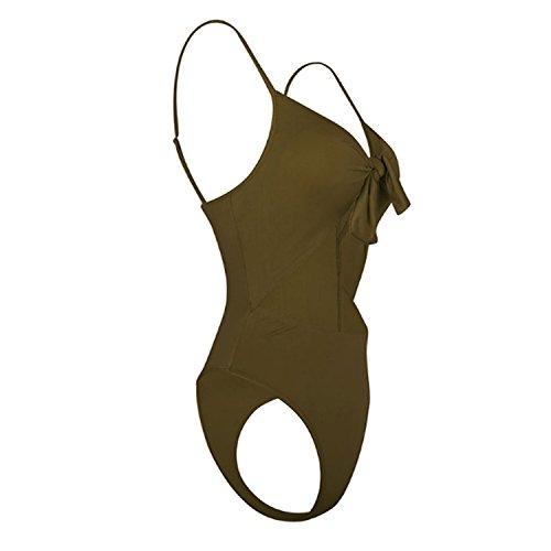 Sexy Tinta Costumi Bikini Unita Piece Bagno da Donna Bandage Push Swimsuits Beachwear Cut Swimwear One verde Up JLTPH out Interi 0qXg0d