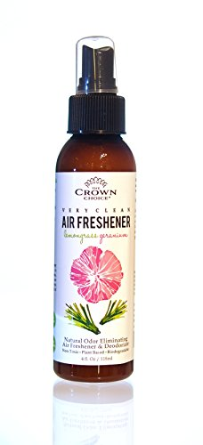 Smoke Fragrance (NATURAL Air Freshener Spray for Home, Room, Bathroom, Toilet (Lemongrass Geranium) | Odor Eliminator using Essential Oils to Sanitize Neutralize Smoke Odors and Refresh Homes, Rooms, Bathrooms)