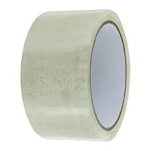 Cd Double Sided White Refill (330FT x 36 Rolls Packing Shipping Clear Tape Box Carton Sealing with 2