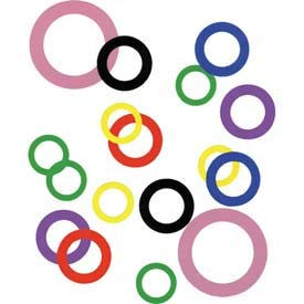 3/8'' I.D. x 5/8'' O.D. x 0.001'' Plastic Color Coded Arbor Shim (Pack of 10) - Made In USA, (Pack of 5)(44701) by Precision Brand