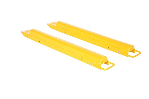Vestil-FE-5-54-R-Round-Fork-Extensions-Pair-54-L-x-5-W-Yellow-Pack-of-2