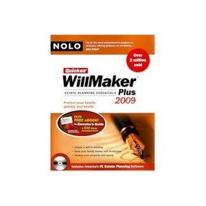 New Intuit Quicken Willmaker 2009 (Includes Book) Compatible With Windows 2000/Xp/Vista (Quicken For Xp)