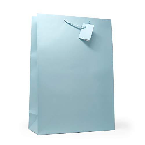 (Allgala 12PK Value Premium Solid Color Paper Gift Bags (17