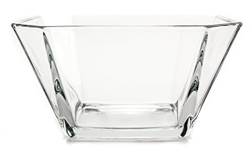 Modern Geometric Clear Glass Serving Centerpiece Bowl, 64 Ounce