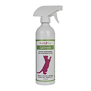 CatFresh Oatmeal Skin & Coat Spray Cleanses & Detangles, Soothes Irritations that Cause Excessive Licking, Chewing & Scratching, Moisturizes & Rejuvenates Skin, Neutralizes Odors & Removes Dander