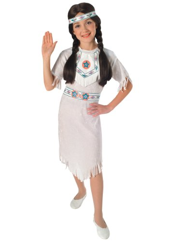 White (Child Indian Girl Costume)