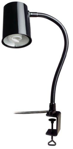 "Moffatt 95005 Flexible Arm Task Lamp, Compact Fluorescent Lamp Type, C-Clamp Base Type, 24"" Arm Length, 23 Watts, 1640 Raw Lumens"