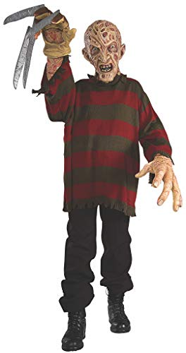 Nightmare on Elm Street Freddy Krueger Creature Reacher Deluxe Oversized Mask and Costume]()