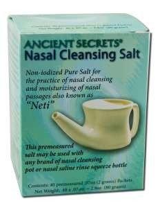 Nasal Cleansing Pot Salt 40 Count