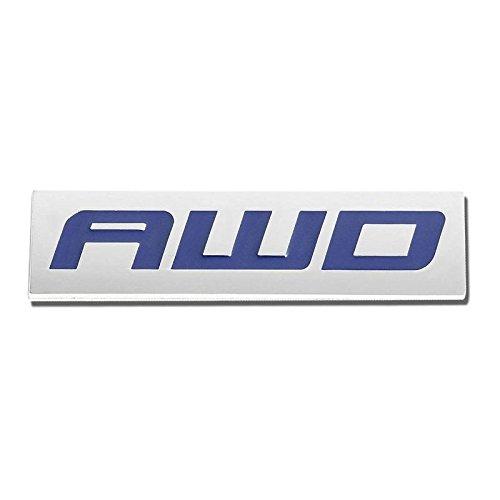 Mitsubishi Chrome Bumper - UrMarketOutlet AWD Blue/Chrome Aluminum Alloy Auto Trunk Door Fender Bumper Badge Decal Emblem Adhesive Tape Sticker