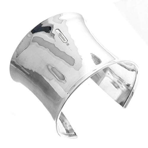 2 3/8'' Wide CONCAVE 925 Sterling Silver Cuff Bracelet YE-113