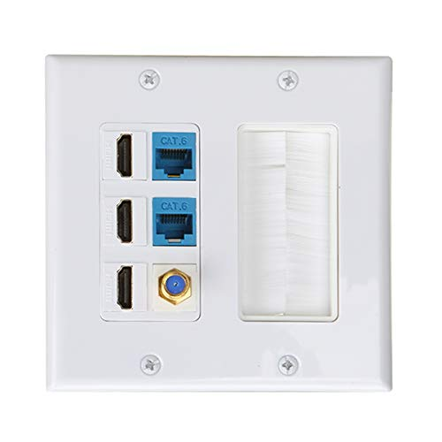 Five Hole Power Socket Panel Outlet Wall Plate Keystone Faceplate Electrical Sockets Seto 120 Type One Open Dual Control Electrical Sockets & Accessories