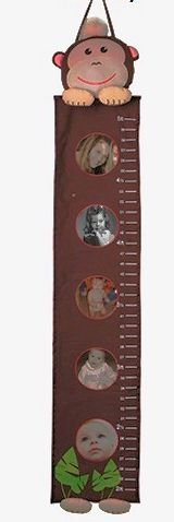 Ani-Mates Animal Photo Growth Chart Fabric Wall Hanging