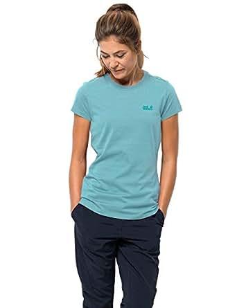 Jack Wolfskin Women's Essential T Women's Organic Cotton T-Shirt,Aqua,X-Small