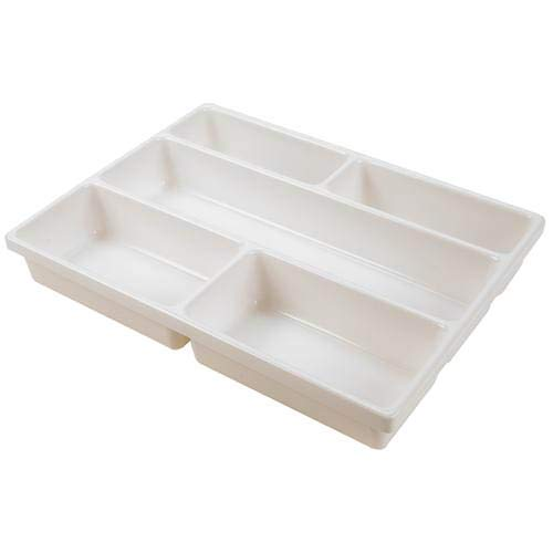 Dynalab 209304-0005 Kartell Storage and Transport Tray, 5 Cavity, PVC, 64 mm Height, 404 mm Wide, 304 mm Length, - Trays Kartell