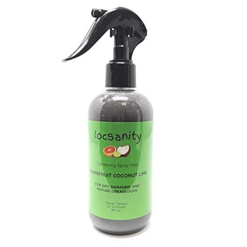 Locsanity Grapefruit Coconut & Lime Moisturizing and Tightening Spray Mist w/Black Hawaiian Sea Salt ()