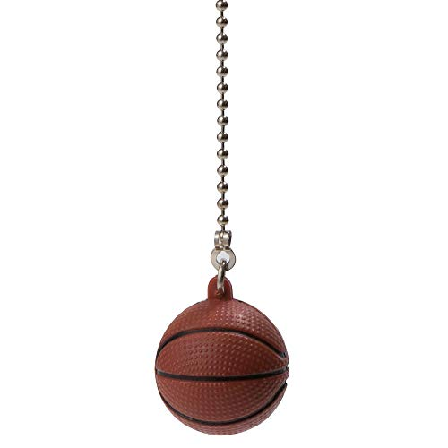 Ceiling Fan Pull Chains, Basketball Ceiling Fan Pull Chain Personality Chaindecorative Ball, 12 inch Pull Chain Decoration for Lighting Celing Fan