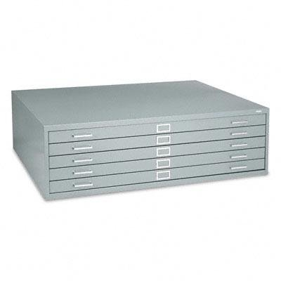 Safco - Five-Drawer Steel Flat File 53-1/2W X 41-1/2D X 16-1/2H Gray ''Product Category: Office Furniture/File & Storage Cabinets'' by Safco