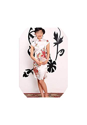 Silk Satin Traditional Chinese Dress Women Short Sleeves Qipao Party Dress,Cheongsams,XL