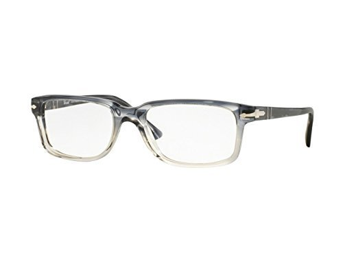 PERSOL Eyeglasses PO 3130V 1040 Striped Blue//Gradient Transparent 52MM