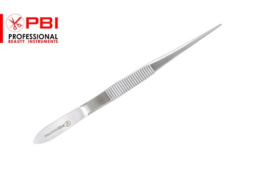 Beauty Instrument (Micro-Fine Tip Stainless Steel Tweezers Forceps Great For Removal of Ingrown Hairs, Stitches, Ticks)
