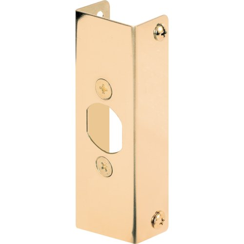 Defender Security U 9566 Door Edge Reinforcer, 1-3/8-Inch Thick by 1-Inch Deep by 4-1/2-Inch Thick, Brass ()