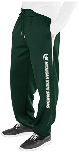 Michigan State Spartans Lounge Pant (NCAA Michigan State Spartans Men's Endurance Sweatpant, Green, Medium)