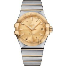 Omega Constellation Champagne Dial Stainless Steel and Yellow Gold Ladies Watch 12320356008001