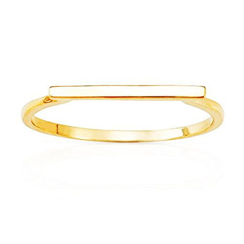 Jewel Connection Simple Bar Stackable Ring in 14K Yellow Gold (10) 14k Yellow Gold Stackable