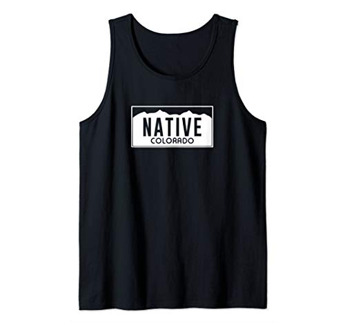 (Colorado Native License Plate Design (white)- Colorado Tank Top )