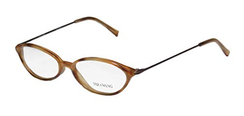 Vera Wang V11 Womens/Ladies Prescription Ready Hip & Chic Designer Full-rim Eyeglasses/Eyeglass Frame (49-16-135, Caramel Brown)