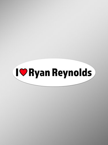 I Love Ryan Reynolds Vinyl Decals Stickers (Two Pack) | Cars Trucks Vans Windows Walls Laptop Cups | Printed | 2-5.5 Inch Decals | KCD1442