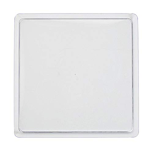 Fun Express - Square Clear Plastic Tray 11.5in for Wedding - Party Supplies - Serveware & Barware - Serving Platters - Wedding - 1 Piece