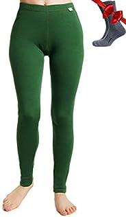 Merino.tech Merino Wool Base Layer Womens Pants 100% Merino Wool Leggings Midweight Thermal Underwear Bottoms