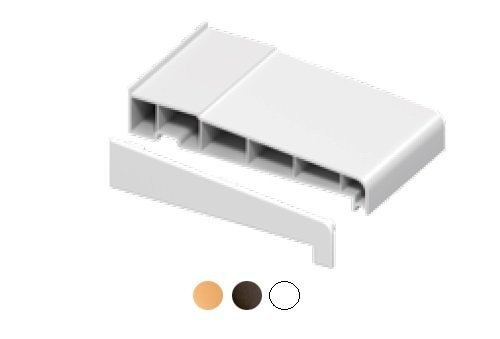 1 x Pair of White 180mm Window Cill End Caps - Suitable for many manufacturers uPVC window cills Eurocell