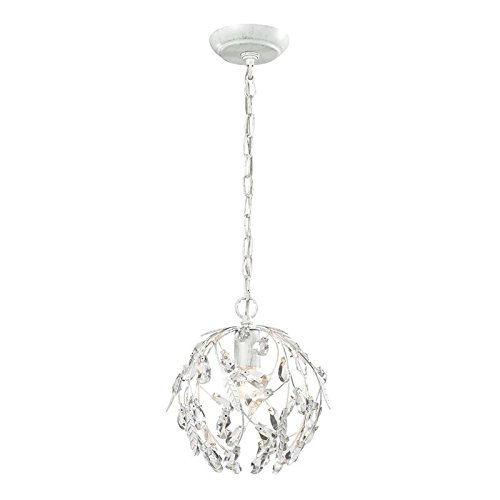 Elk Lighting 18123/1 Circeo Collection 1 Light Mini Pendant, Antique White (Circeo Collection)