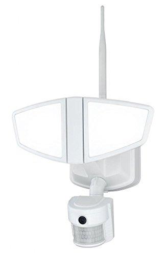 Vaxcel T0172 Epsilon Smart Lighting LED Motion Sensor Security Light With Wi-Fi Camera, White Finish