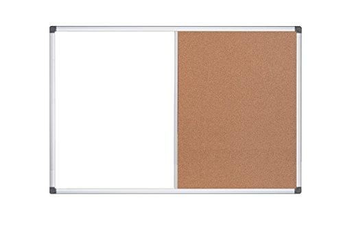 MasterVision Maya Combination Board, Dry Erase / Cork Bulletin Board, 36