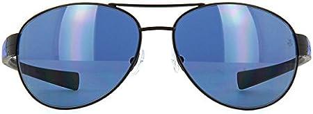 Tag Heuer LRS 0253 404 Sonnenbrille - Gafas de sol polarizadas, 62 mm, color negro y azul