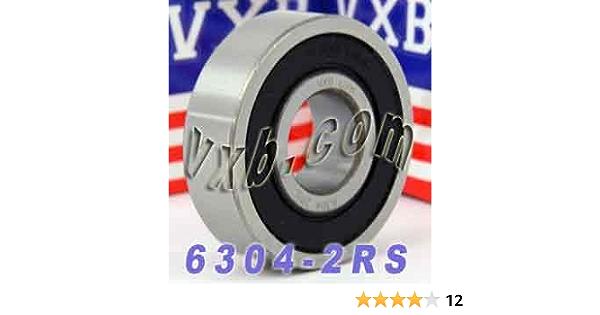 6304-2RS EMQ C3 Premium Sealed Ball Bearing 20x52x15mm