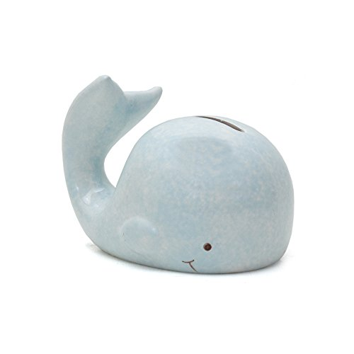 (Child to Cherish Mini Whale Piggy Bank, Blue)