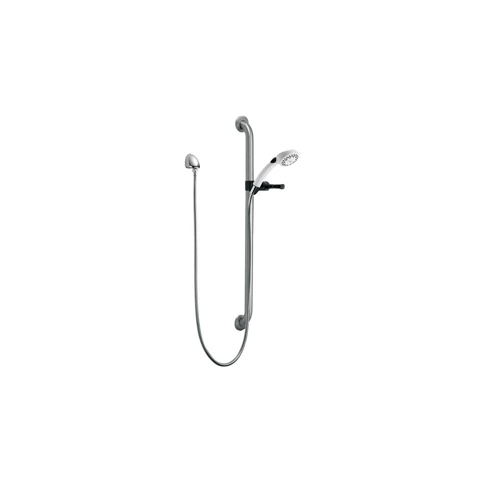 Delta Faucet RPW336HDF Single Function Hand shower with Grab Bar and Elbow, Other Finishes