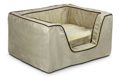 Snoozer Memory Foam Luxury Square Pet Bed, X-Large, Buckskin/Java