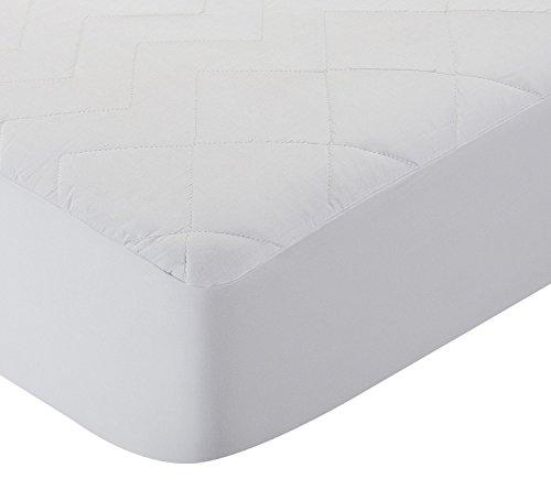 Pikolin Home Protector de colchon acolchado cubre colchon, antialergico, antiacaros, antibacterias y antimoho, transpirable, 100% algodon, 90 x 190/200 cm, cama 90