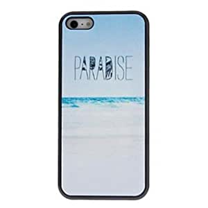 SUMCOM Beautiful Simple Designed White-sand Beaches Pattern PC Hard Case for iPhone 5/5S